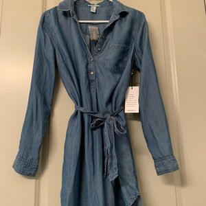 💙Denim shirt dress